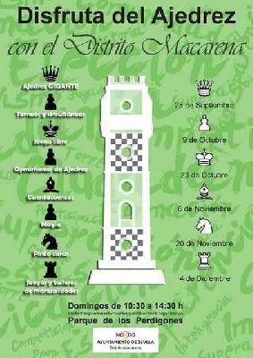 Disfruta del Ajedrez con el Distrito Macarena Sevilla