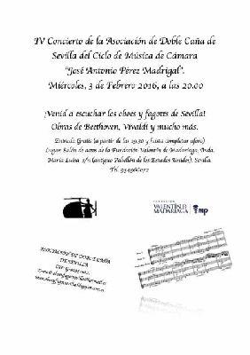 Concierto: Asociación Doble Caña en Madariaga Sevilla (febrero 2016)
