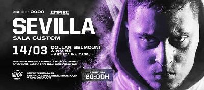 Cartel del concierto de Dollar Selmouni y Kvinz en Custom Sevilla 2020