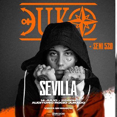 Cartel del concierto de Duki en el Auditorio Rocío Jurado de Sevilla 2021