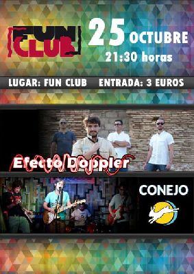 Concierto: Efecto Doppler y Conejo en FunClub Sevilla