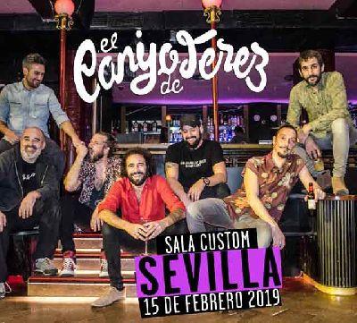 Cartel del concierto de El Canijo de Jerez en Custom Sevilla 2019