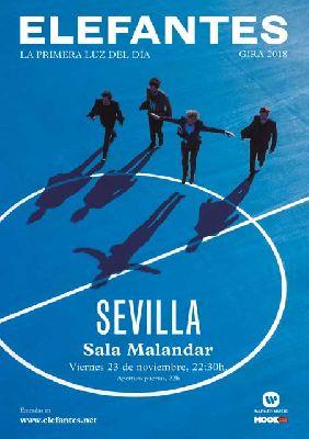 Concierto: Elefantes en Malandar Sevilla 2018