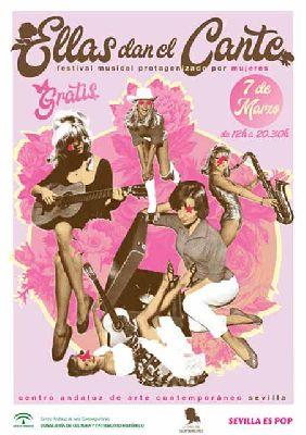 Cartel del concierto Ellas dan el cante marzo 2020 en el CAAC Sevilla