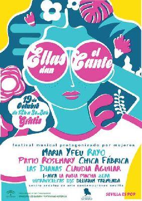 Cartel del concierto Ellas dan el cante octubre 2019 en el CAAC Sevilla