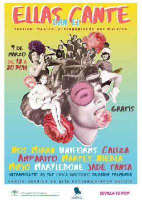 Cartel del concierto Ellas dan el cante 2019 en el CAAC Sevilla