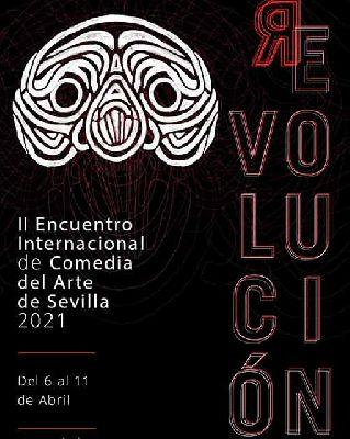 Cartel del II Encuentro Internacional de Comedia del Arte de Sevilla 2021