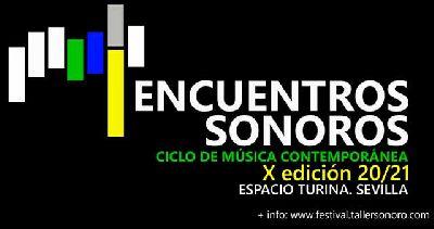 Cartel del X festival Encuentros Sonoros 2020-2021 en Sevilla