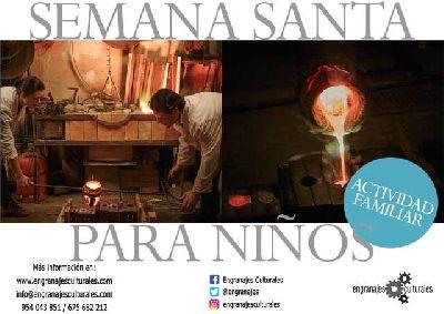Cartel de las actividades de Semana Santa para niños en Sevilla