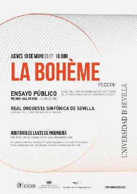 Concierto: ensayo de la ópera La bohème por la ROSS en Sevilla