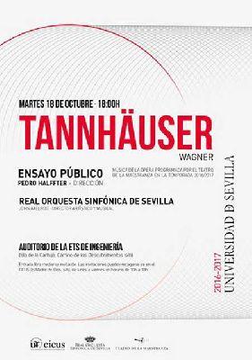 Concierto: ensayo de la ópera Tannhäuser por la ROSS en Sevilla