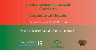 Cartel del concierto del Ensemble de Metales de la Fundación Barenboim-Said en Sevilla 2019