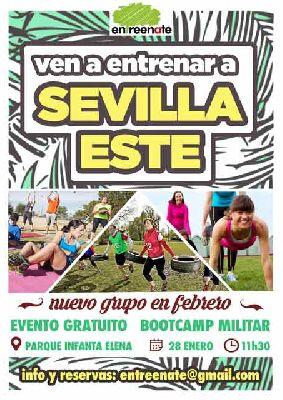 Bootcamp Militar de Entreenate en el parque Infanta Elena de Sevilla