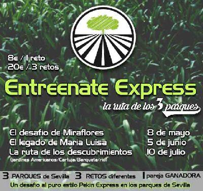 Entreenate Express La ruta de los 3 parques en Sevilla