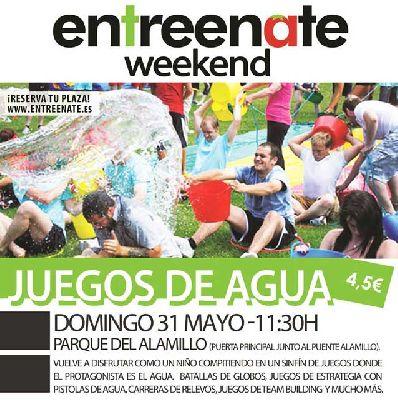 Juegos de agua de Entreenate en el parque del Alamillo de Sevilla