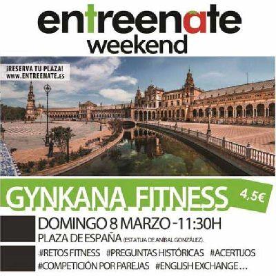 Gynkana Fitness de Entreenate en la Plaza de España Sevilla