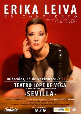 Concierto: Erika Leiva en el Teatro Lope de Vega de Sevilla 2017