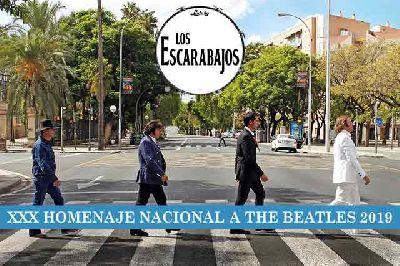 Cartel del concierto de Los Escarabajos en Malandar Sevilla 2019