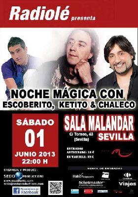 Concierto: Escoberito, Ketito y Chaleco en Sevilla (Malandar)
