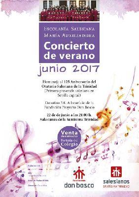 Concierto benéfico de verano en el Colegio de la Trinidad Sevilla