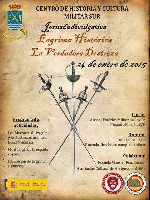 Jornada divulgativa de Esgrima Histórica en el Museo Militar Sevilla