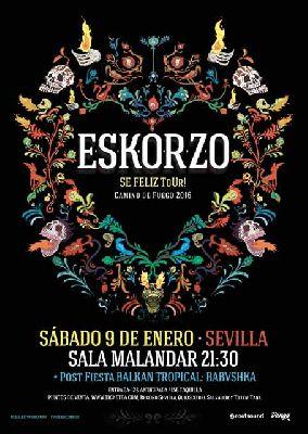 Concierto: Eskorzo en Malandar Sevilla 2016