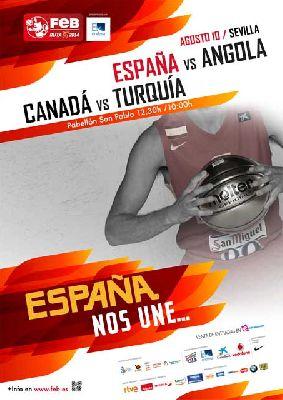 Baloncesto: España - Angola en Sevilla (Ruta Ñ-14)