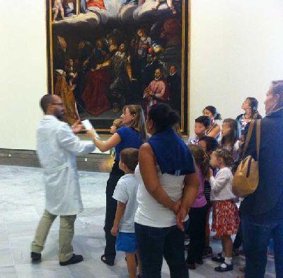 La Mochila del artista en el Museo de Bellas Artes de Sevilla