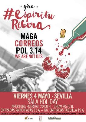 Concierto: Maga, Correos y Pol 3.14 en la Sala Holiday de Sevilla 2018