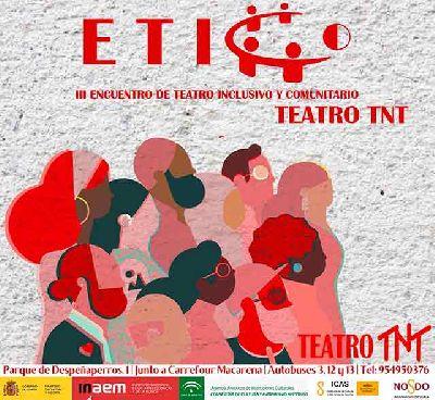 Cartel del III Encuentro de Teatro de Inclusión y Comunitario (ETICO)