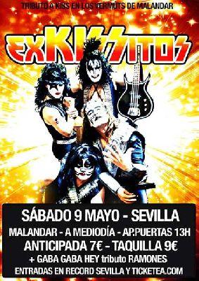 Concierto: Exkissitos y Gabba Gabba Hey en Malandar Sevilla