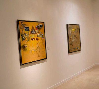 Imagen de la exposición Mística de Valentín Kovatchev en Cajasol Sevilla
