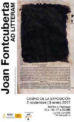 Exposición: Ad Litteram de Joan Fontcuberta en el Casino de la Exposición Sevilla