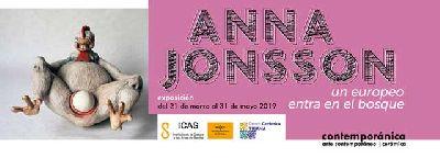 Cartel de la exposición temporal Un europeo entra en el bosque en el Centro de la Cerámica de Triana de Sevilla