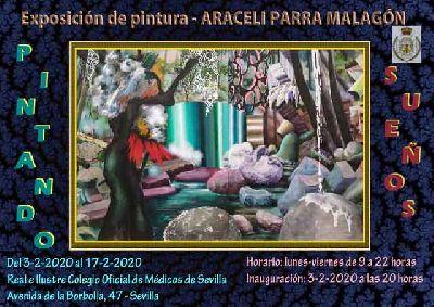 Cartel de la exposición Pintando Sueños de Araceli Parra Malagón