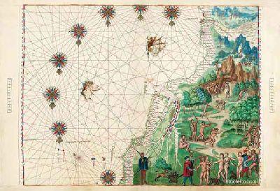 Imagen de la exposición Atlas y códices iluminados de los 40 años que cambiaron el mundo en el Alcázar de Sevilla