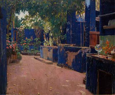 Patio azul de Santiago Rusiñol 1913 © Museo Nacional de Arte de Cataluña