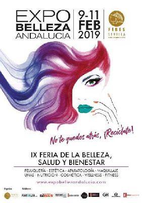 Cartel de Expobelleza Andalucía en Fibes Sevilla 2019