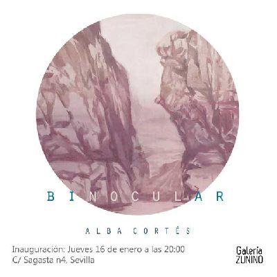 Cartel de la exposición Binocular en la Galería Zunino de Sevilla