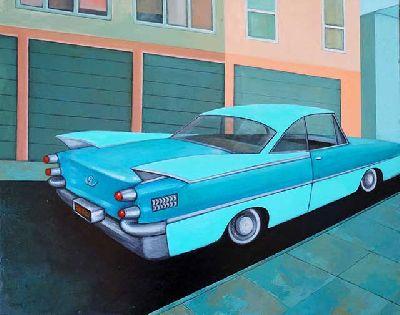 Cartel de la exposición California Dreamin' en la Galería Zunino de Sevilla