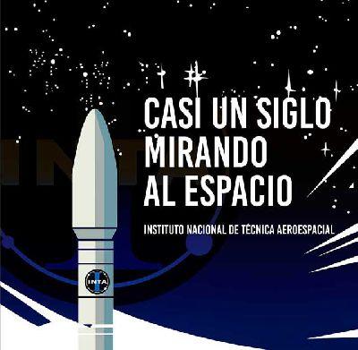 Cartel de la exposición Casi un siglo mirando al espacio en Cajasol Sevilla 2019