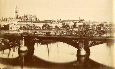 Fotografía antigua de Sevilla desde Triana