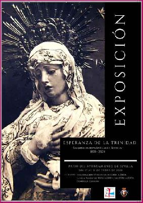 Cartel de la exposición Esperanza de la Trinidad (la mirada romántica de Sevilla 1820 - 2020)