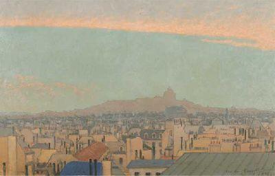 Imagen de Charles Lacoste - Vista de Montmartre, 1900. Colección particular
