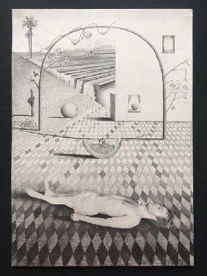 Cartel de la exposición Gray Matter en la Galería Zunino de Sevilla