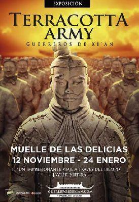 Exposición: Guerreros de Terracota en el Muelle de las Delicias de Sevilla