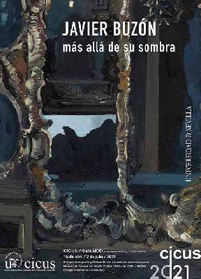 Cartel de la exposición temporal Javier Buzón. Más allá de su sombra