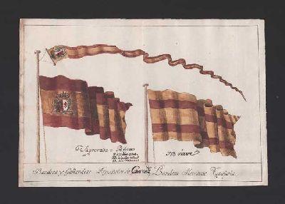 Imagen de Banderas y gallardetes para los buques correos de España 1785