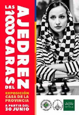 Cartel de la exposición Las 1000 caras del ajedrez en la Casa de la Provincia de Sevilla