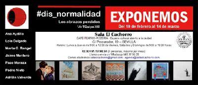 Cartel de la exposición Los abrazos perdidos (#dis_normalidad)